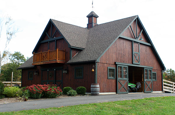 Guilford CT Custom Barn - custom built post & beam